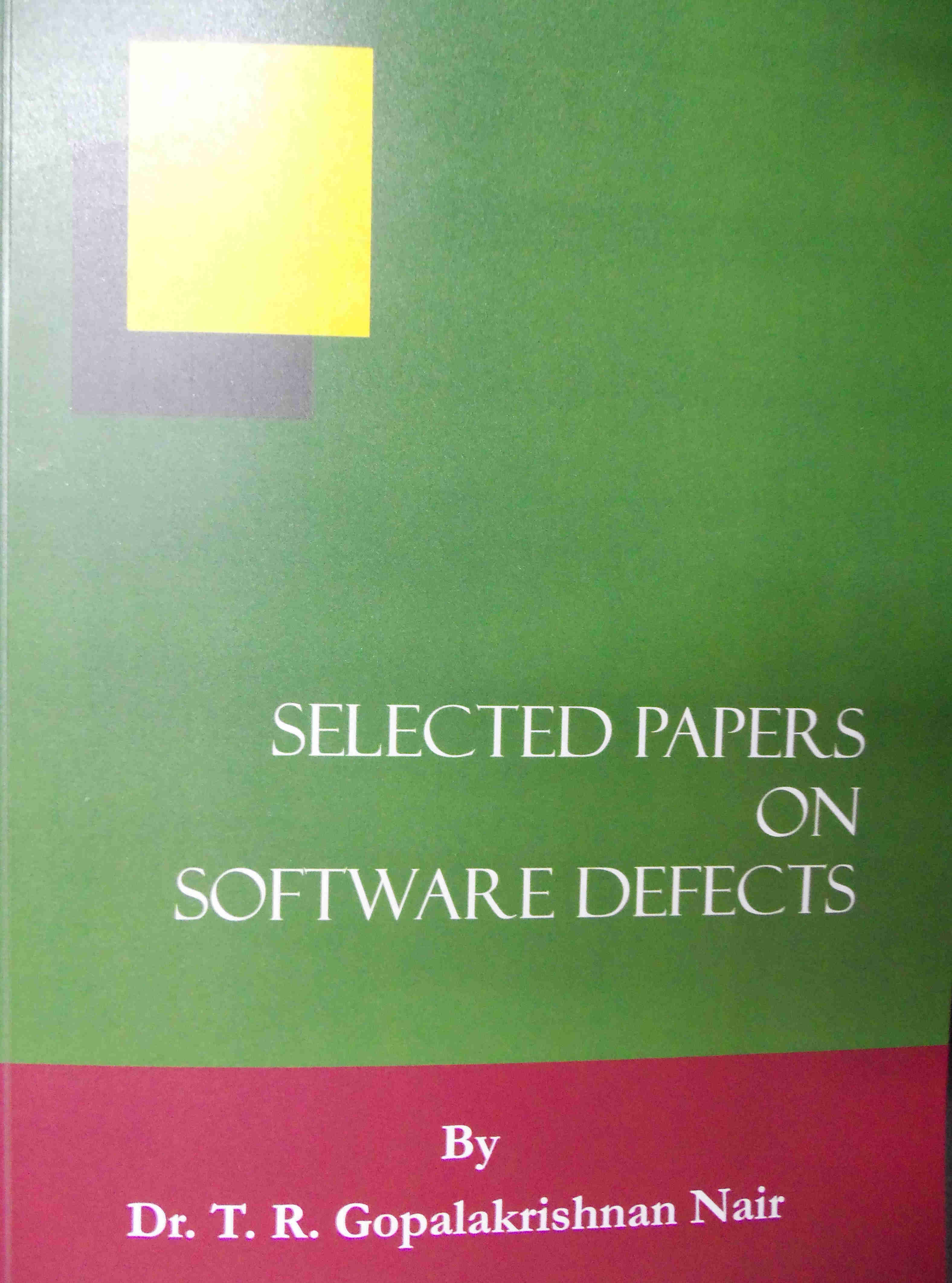 Selected Papers- Software Defects