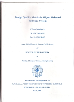Quality Metrics - Object Oriented