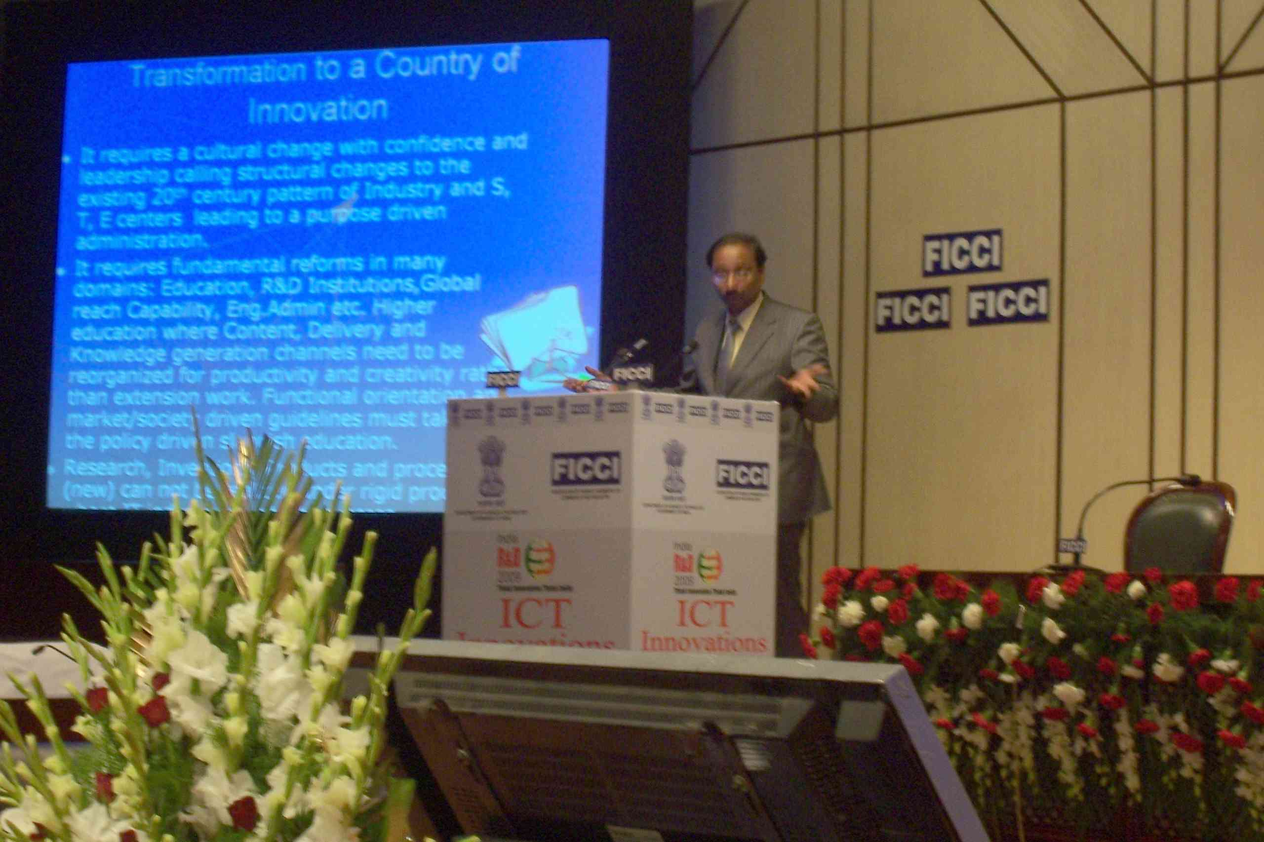 Address FICCI, Innovations in ICT